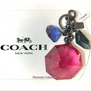 💎 Coach Disney Gem Keychain Bag Charm NWT